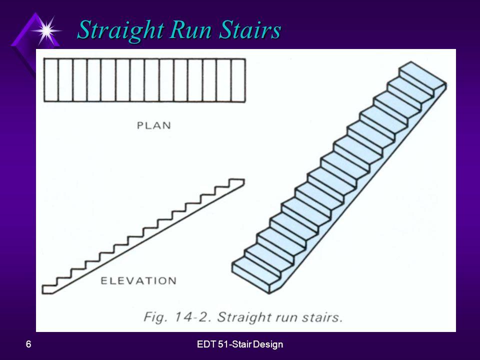 Straight Run Stairs EDT 51-Stair Design