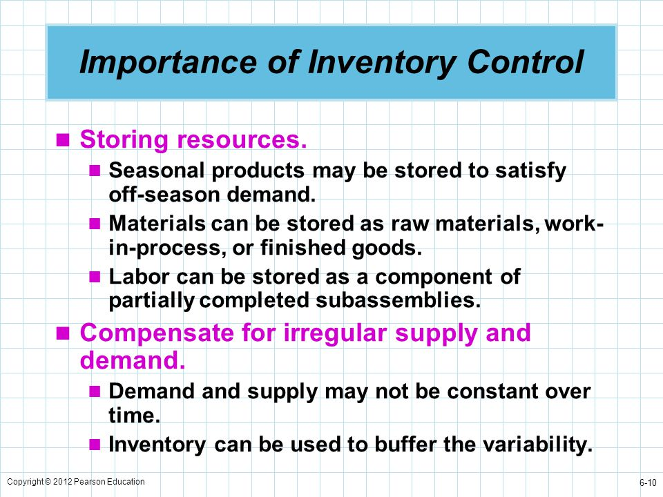 Importance of Inventory Control