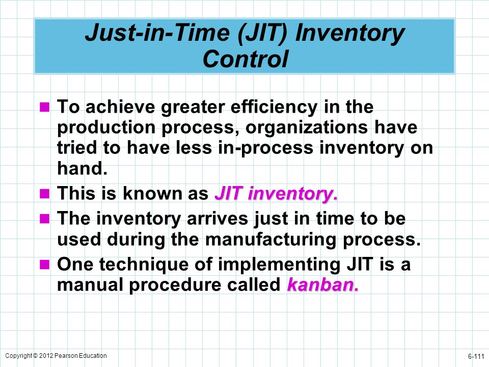 Just-in-Time (JIT) Inventory Control