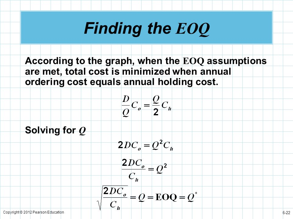 Finding the EOQ