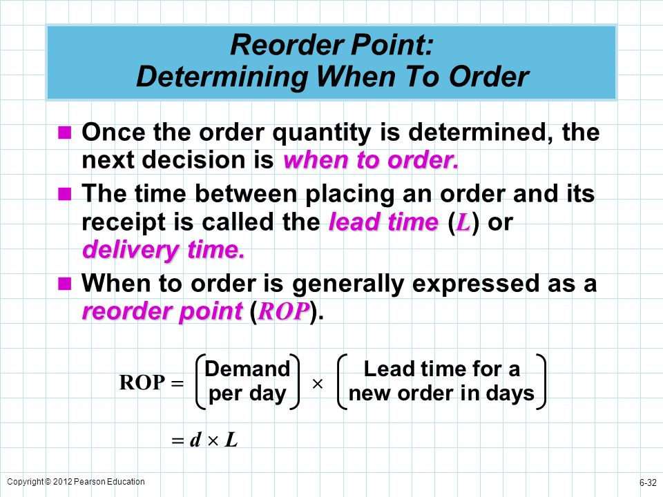 Reorder Point: Determining When To Order
