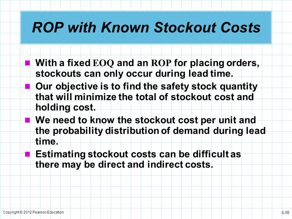 ROP with Known Stockout Costs