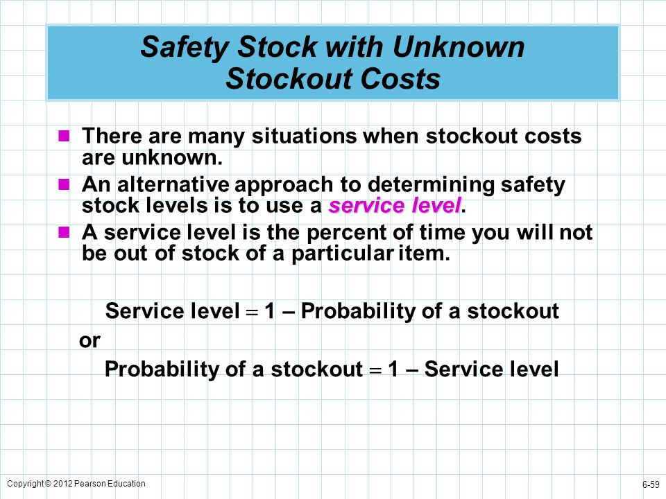 Safety Stock with Unknown Stockout Costs