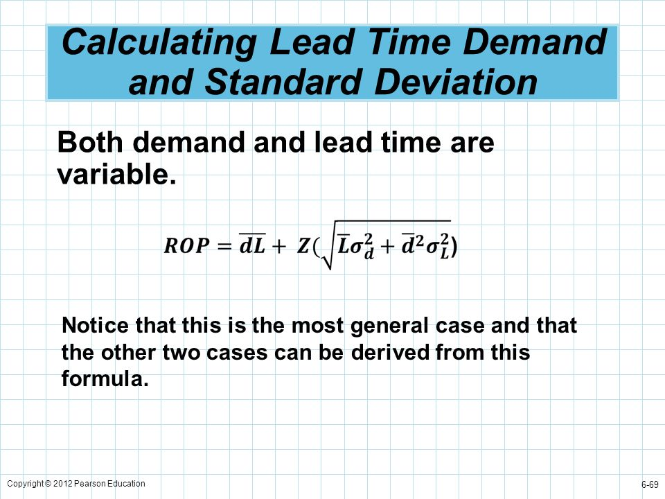 Calculating Lead Time Demand and Standard Deviation