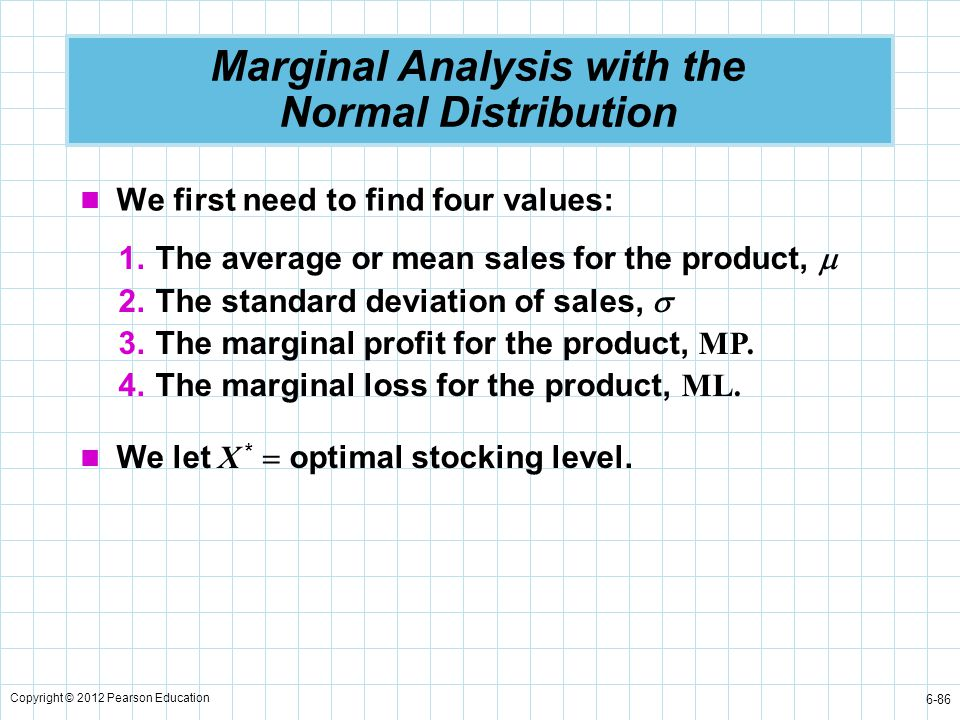 Marginal Analysis with the Normal Distribution