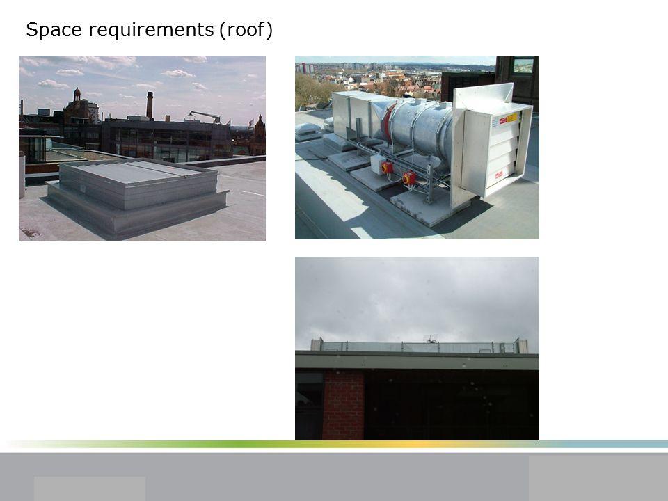 Space requirements (roof)