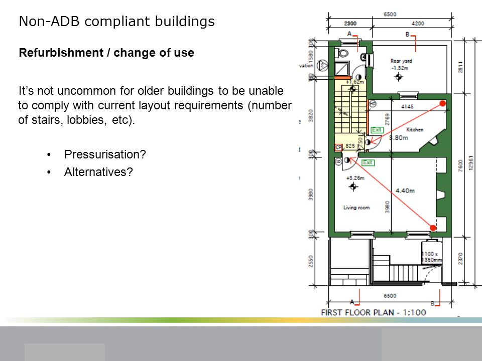 Non-ADB compliant buildings Refurbishment / change of use