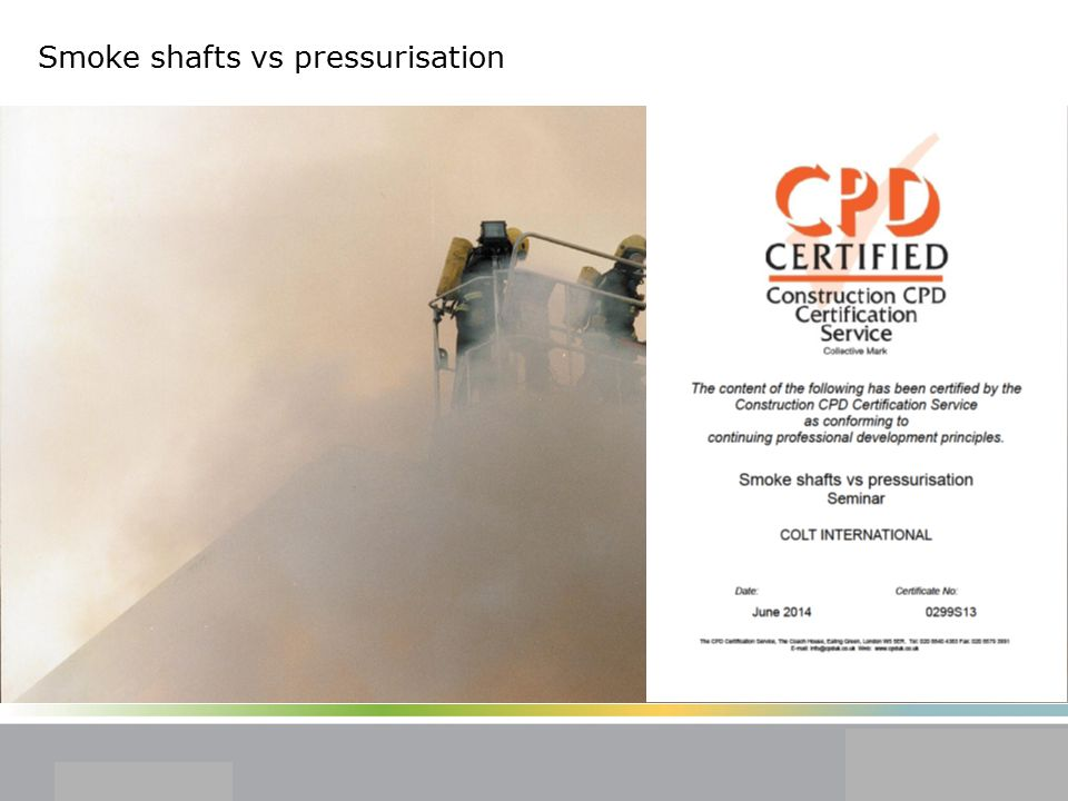 Smoke shafts vs pressurisation