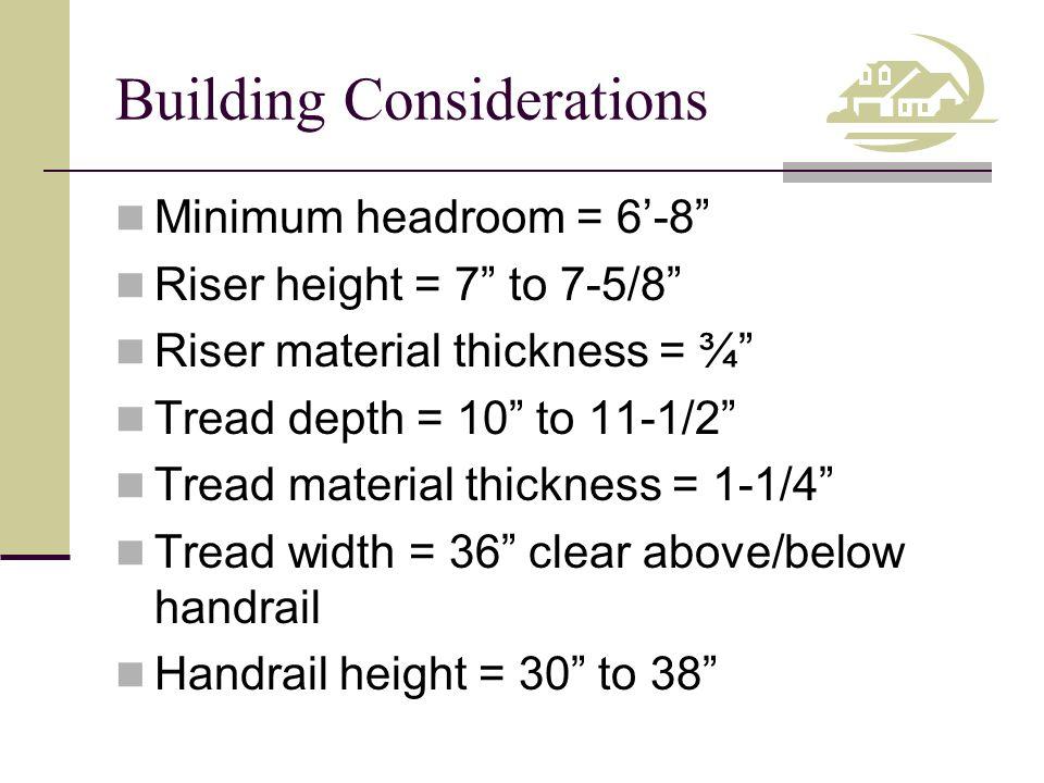 Building Considerations