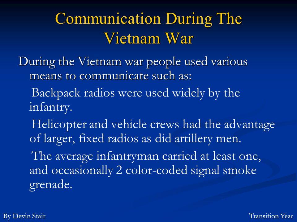 Communication During The Vietnam War