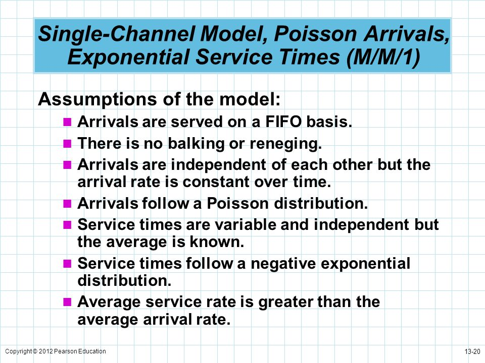 Single-Channel Model, Poisson Arrivals, Exponential Service Times (M/M/1)