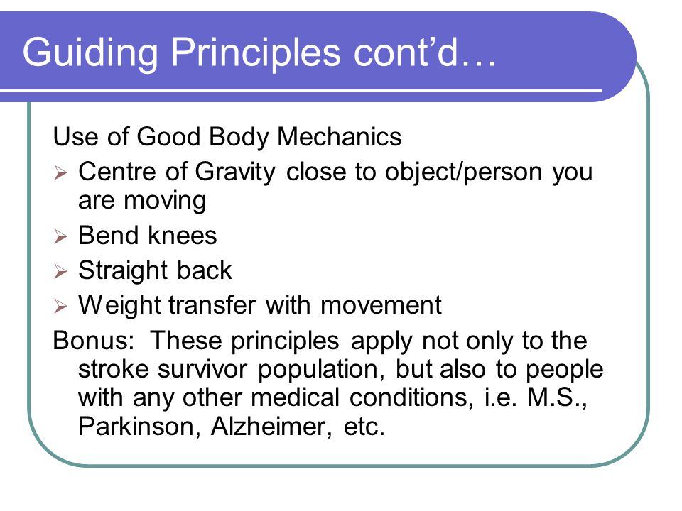 Guiding Principles cont'd…