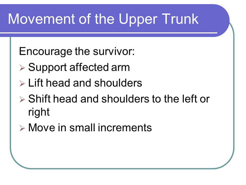 Movement of the Upper Trunk