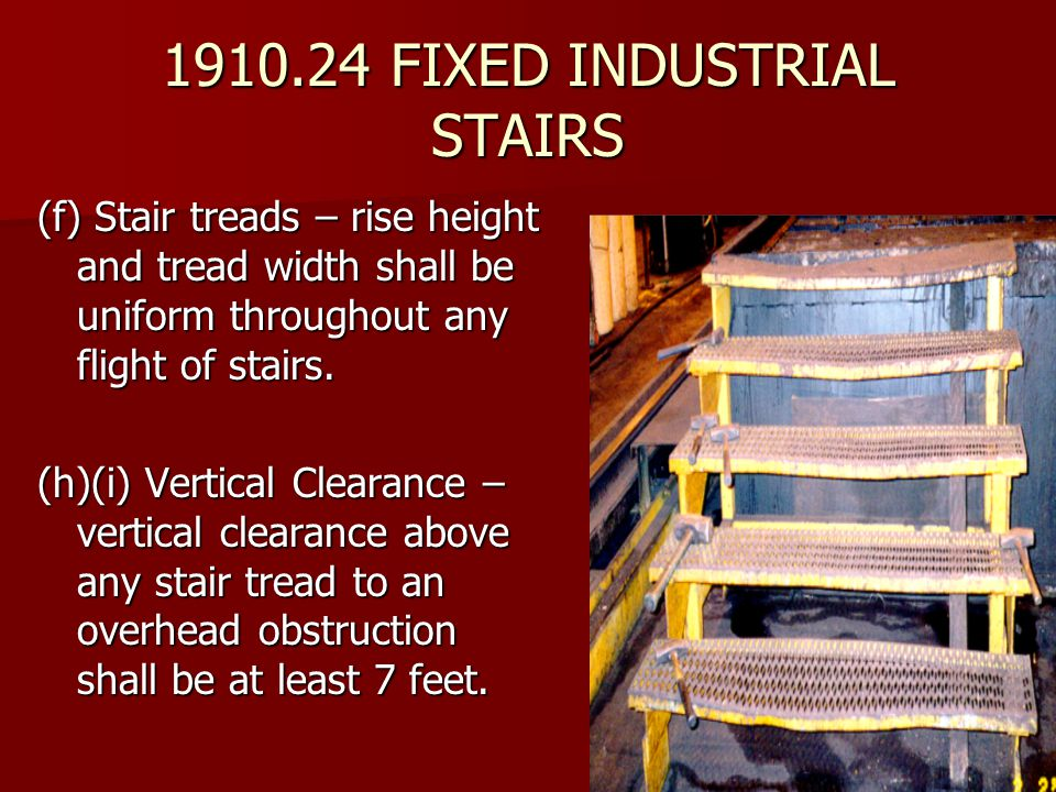 1910.24 FIXED INDUSTRIAL STAIRS