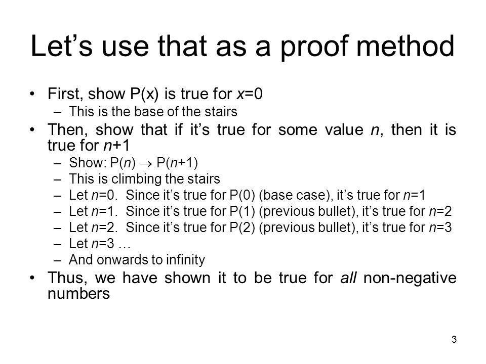 Let's use that as a proof method