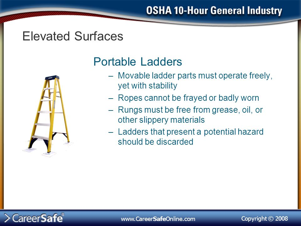 Elevated Surfaces Portable Ladders