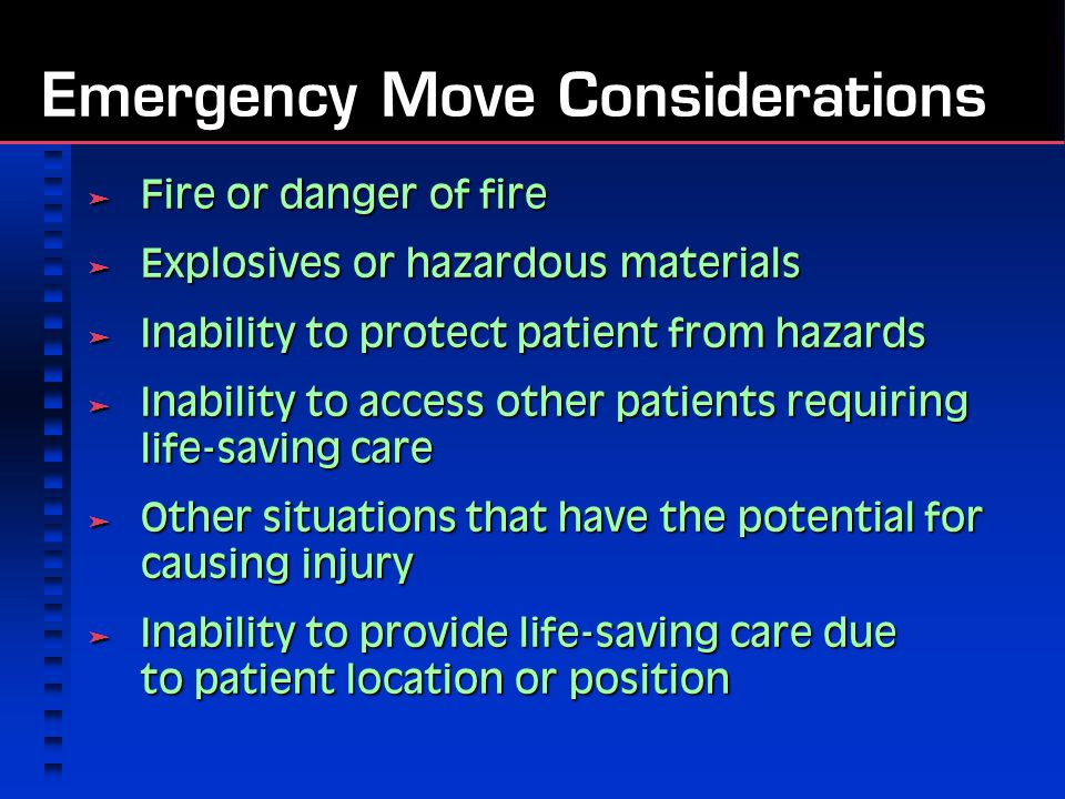 Emergency Move Considerations