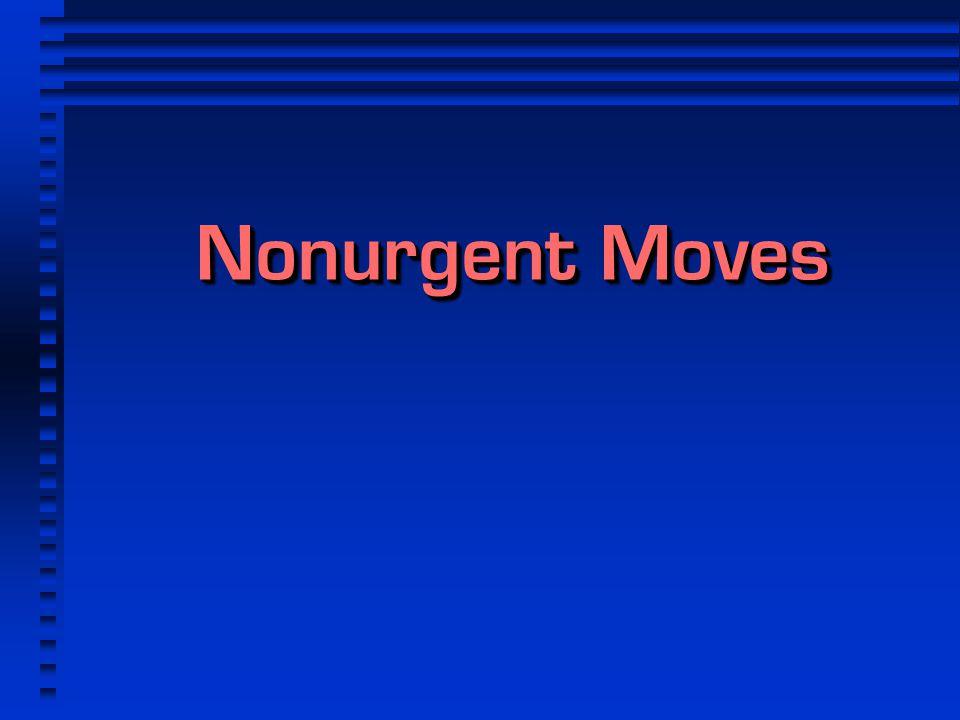 Nonurgent Moves 1