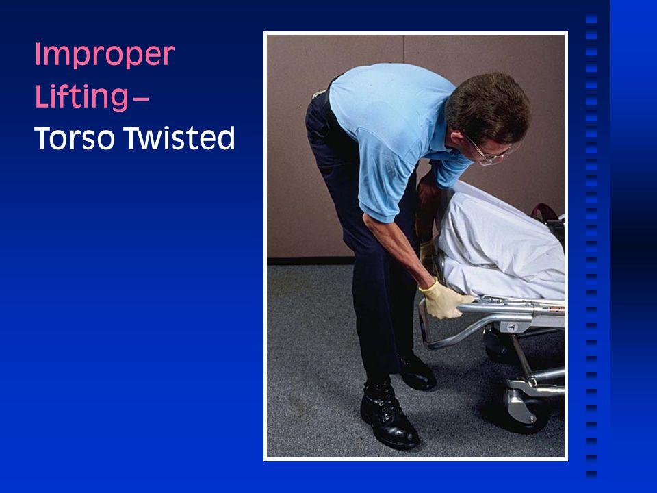 Improper Lifting -- Torso Twisted