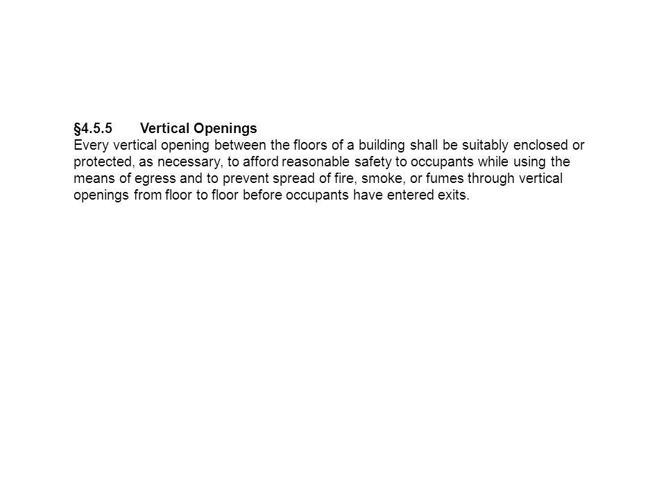 §4.5.5 Vertical Openings
