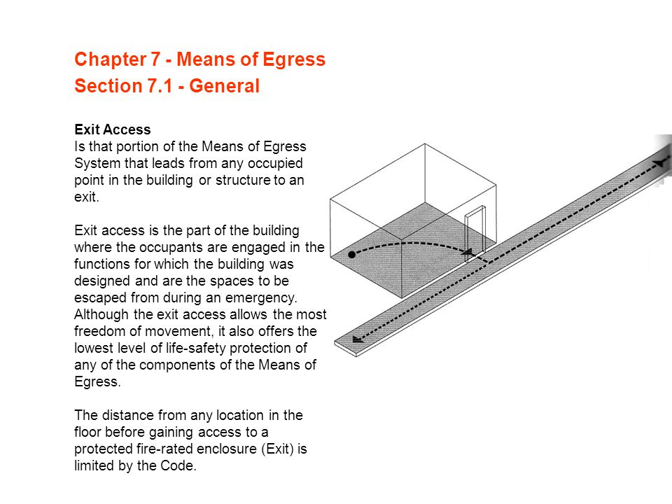 Chapter 7 - Means of Egress Section 7.1 - General