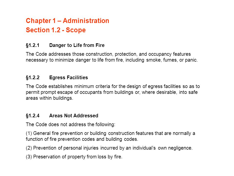 Chapter 1 – Administration Section 1.2 - Scope