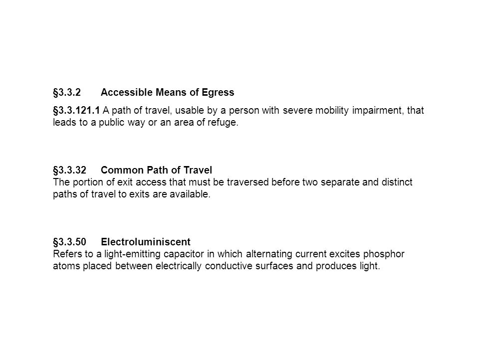 §3.3.2 Accessible Means of Egress