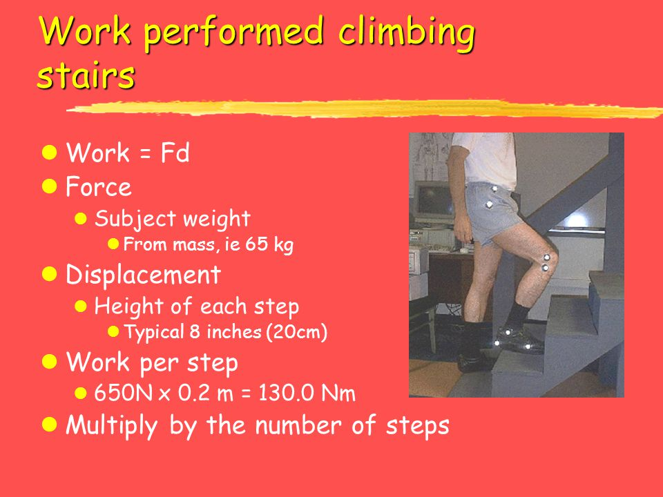 Work performed climbing stairs