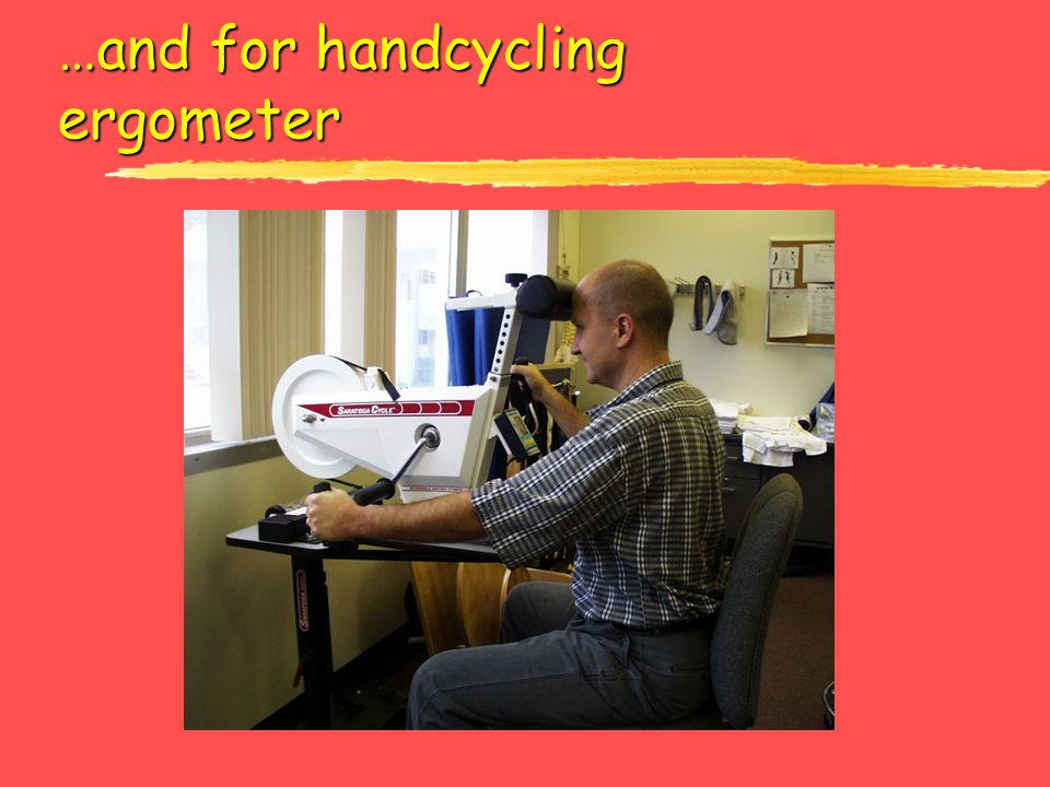 …and for handcycling ergometer