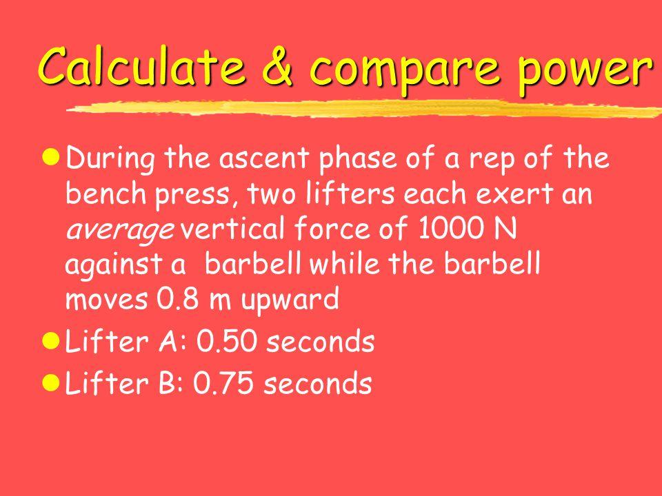 Calculate & compare power