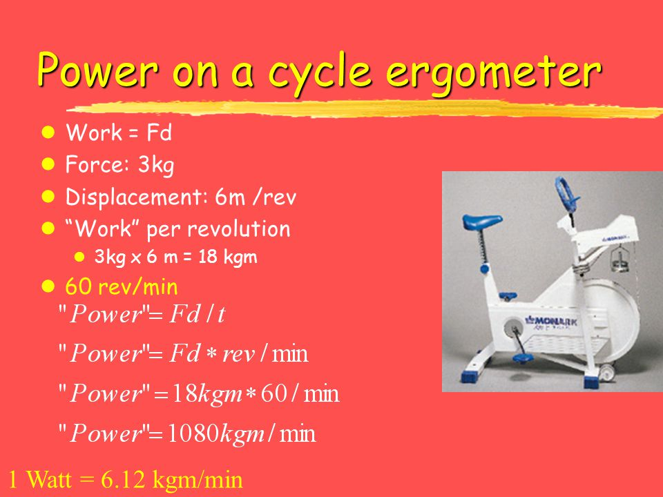 Power on a cycle ergometer