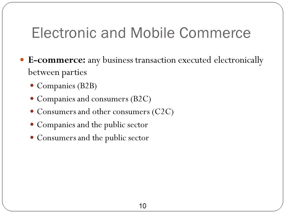 Electronic and Mobile Commerce