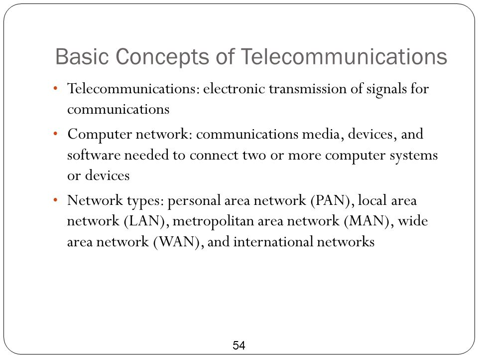 Basic Concepts of Telecommunications