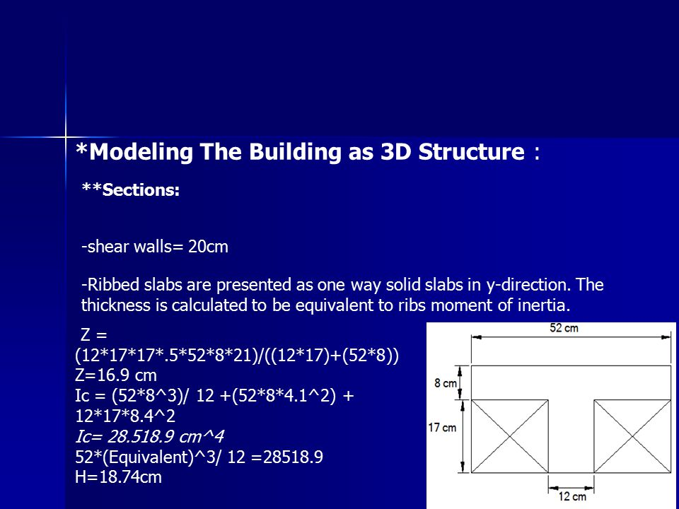 *Modeling The Building as 3D Structure :