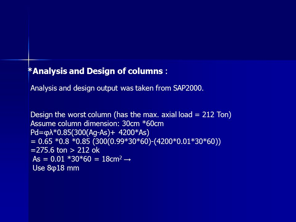 *Analysis and Design of columns :