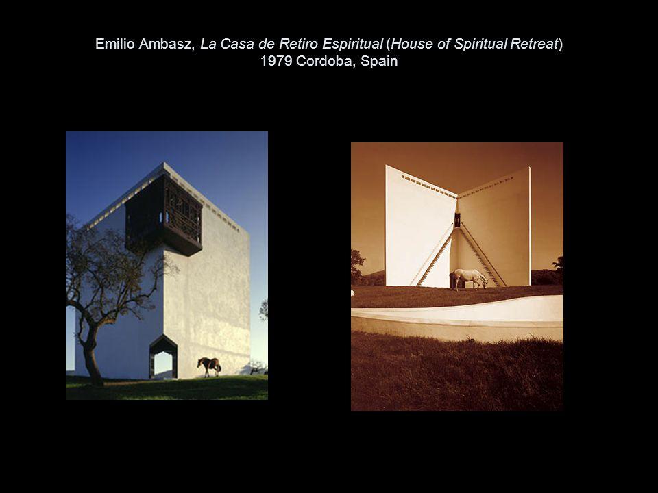 Emilio Ambasz, La Casa de Retiro Espiritual (House of Spiritual Retreat) 1979 Cordoba, Spain