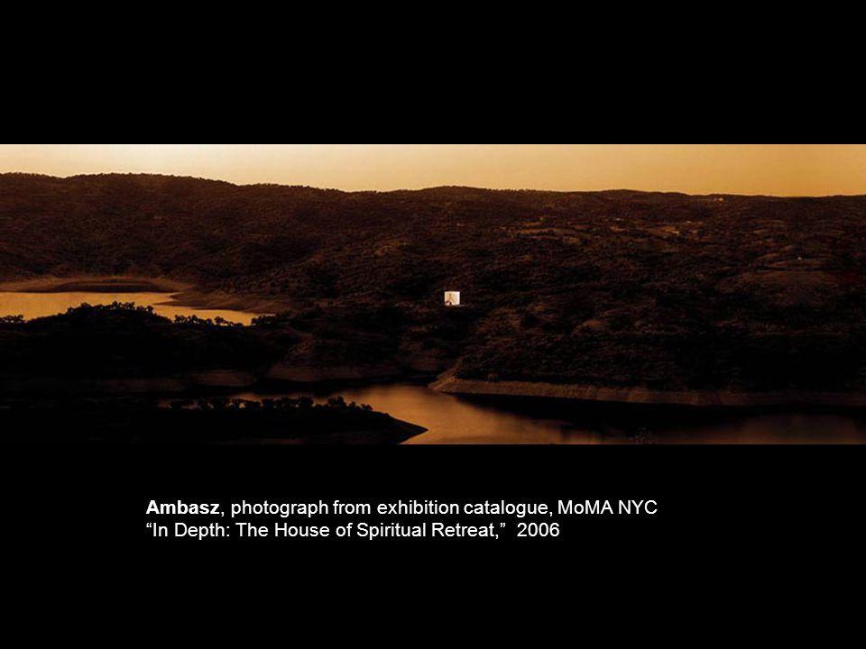 Ambasz, photograph from exhibition catalogue, MoMA NYC