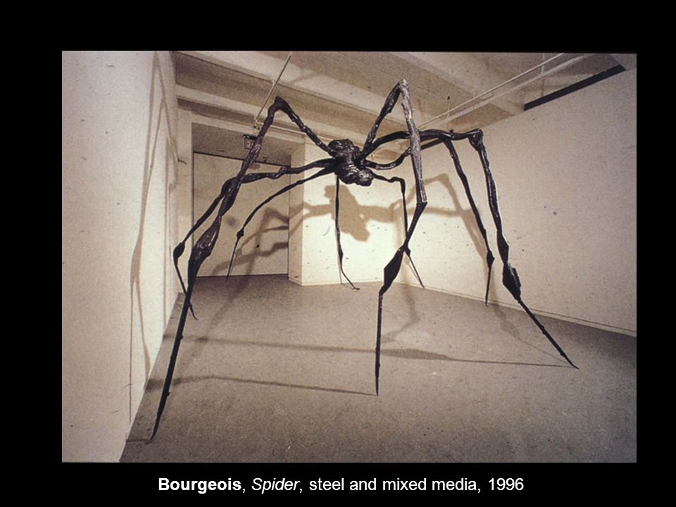 Bourgeois, Spider, steel and mixed media, 1996