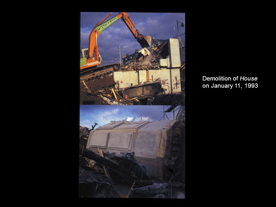 Demolition of House on January 11, 1993