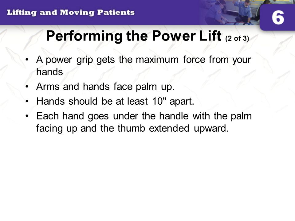 Performing the Power Lift (2 of 3)