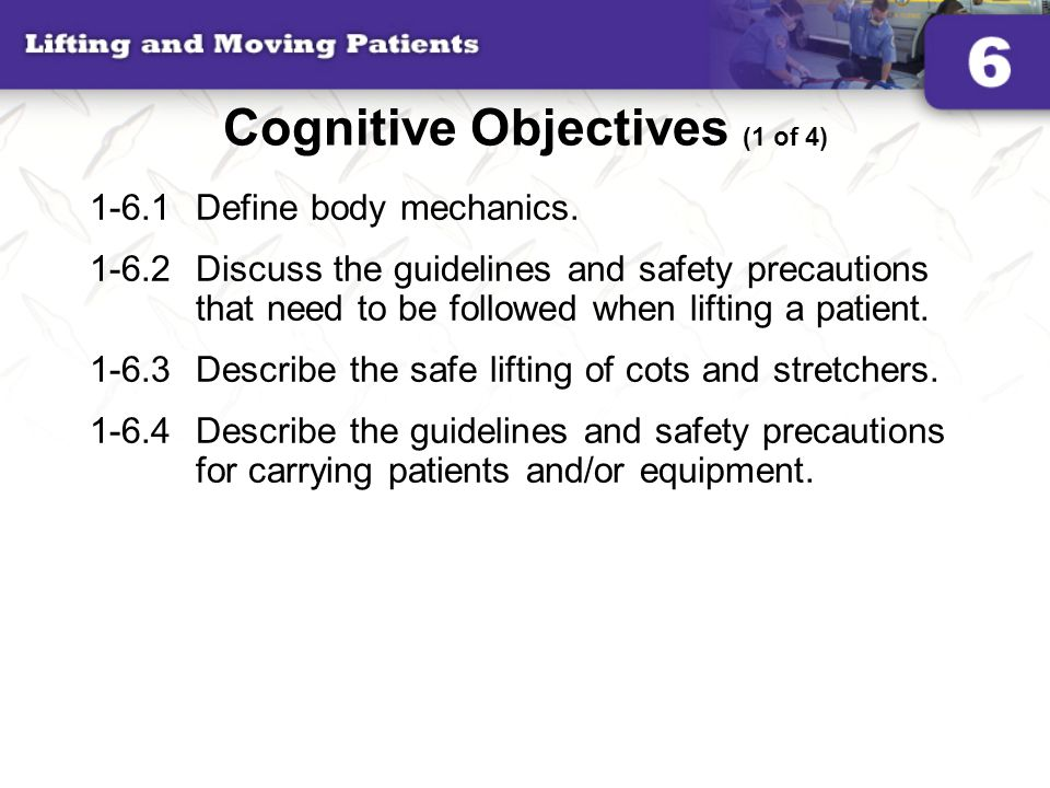 Cognitive Objectives (1 of 4)