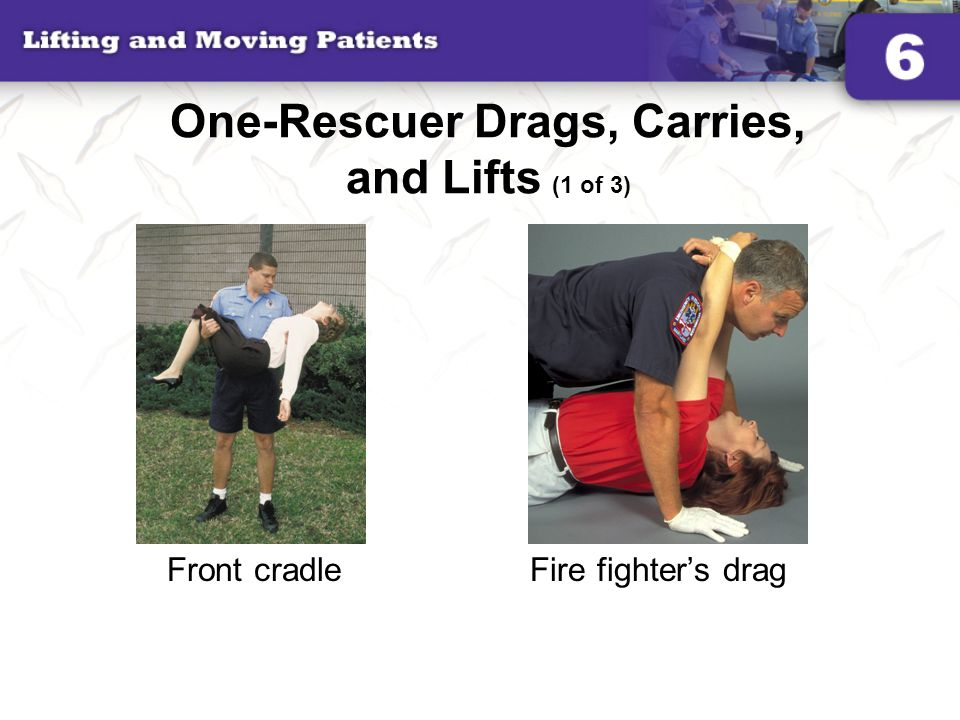 One-Rescuer Drags, Carries, and Lifts (1 of 3)