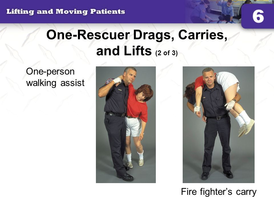 One-Rescuer Drags, Carries, and Lifts (2 of 3)