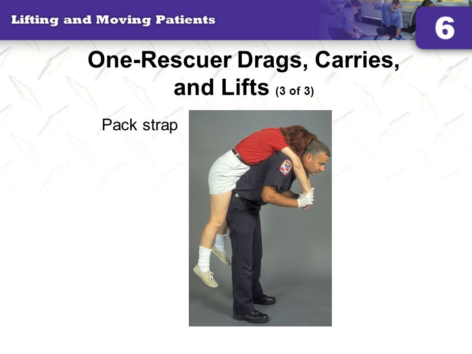 One-Rescuer Drags, Carries, and Lifts (3 of 3)
