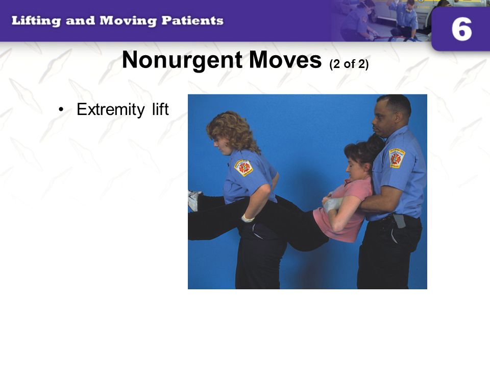 Nonurgent Moves (2 of 2) Extremity lift