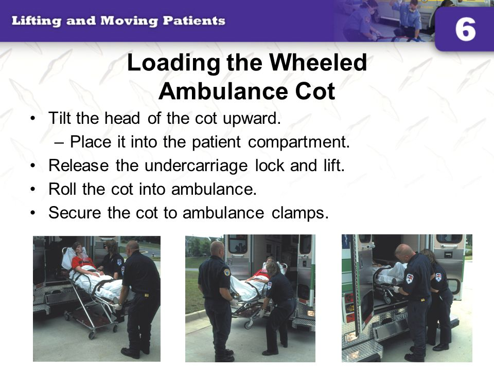 Loading the Wheeled Ambulance Cot