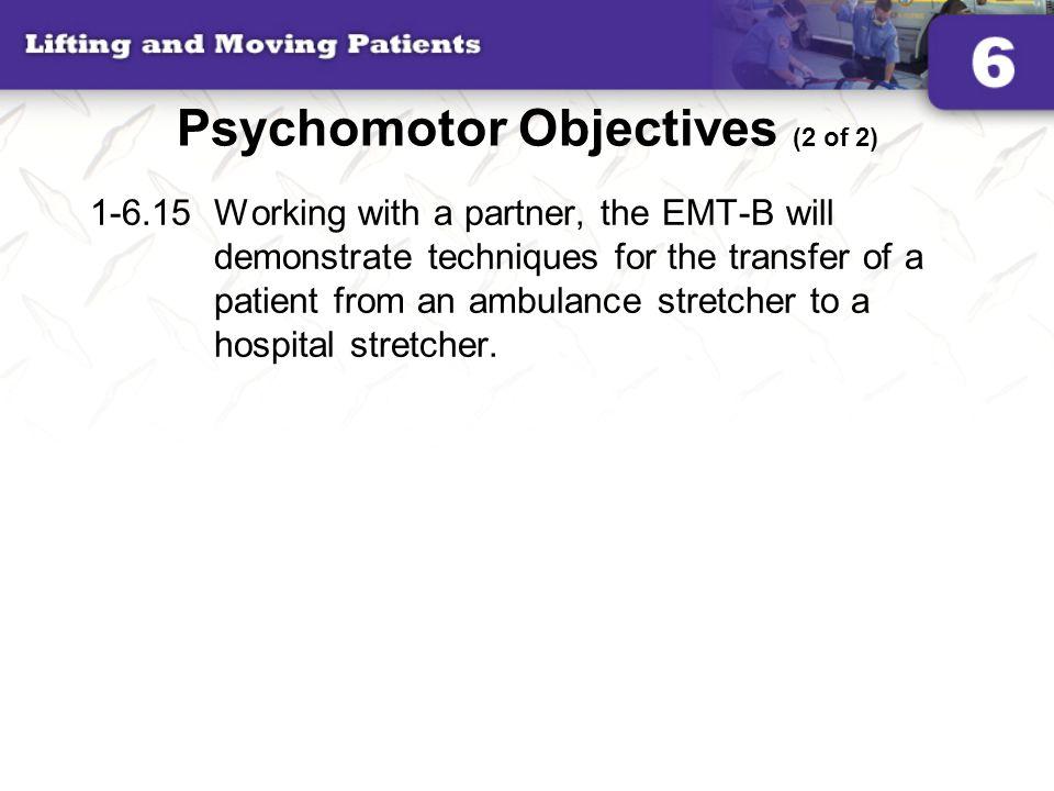 Psychomotor Objectives (2 of 2)