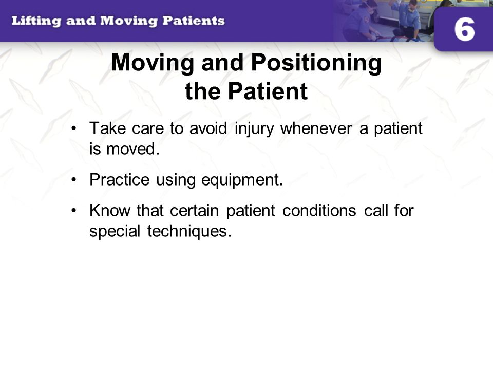 Moving and Positioning the Patient