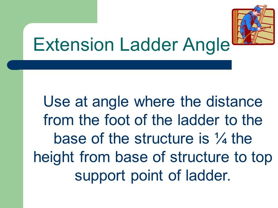 Extension Ladder Angle