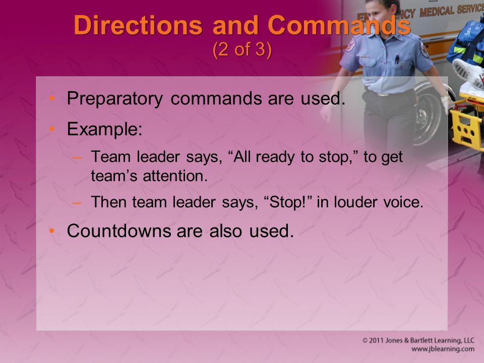 Directions and Commands (2 of 3)